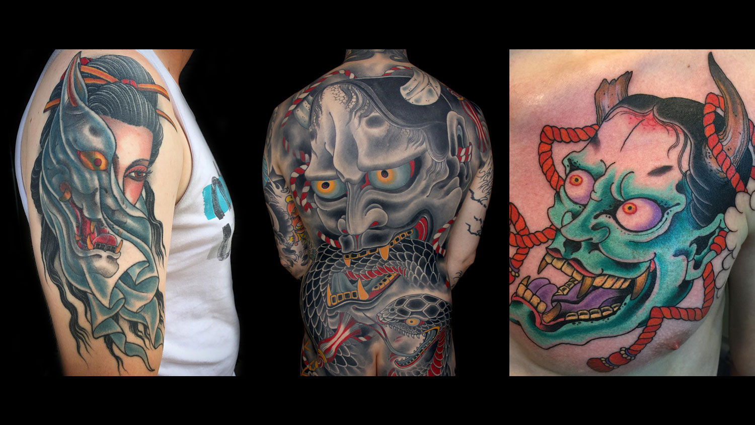 cd5be5af9 Tattoo Idea: 27 Japanese Hannya Tattoo Styles from Traditional to Modern